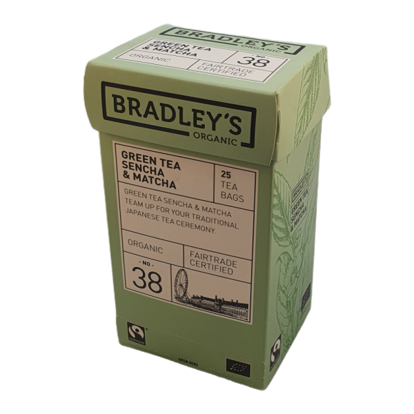 Bradley's green tea sencha & matcha 25 theezakjes per doos Prijs:€ 3,00Inbegrepen btw 9%€ 0,25 Plus verwerkings- en verzendkosten.